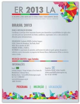 Cartel de invitación al III Encuentro latinoamericano sobre EERR