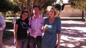Pali junto a Denis Costello y Anja Helm, ambos de EuroRDis