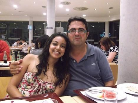Pali Peña junto a Juan Carrión, presidente de FEDER