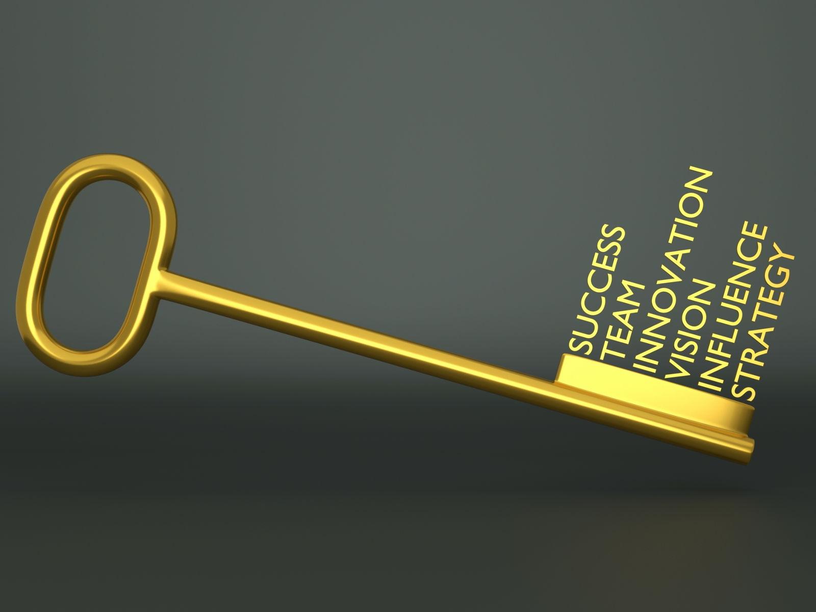 llave, éxito, inovación, visión, influencia, estrategia