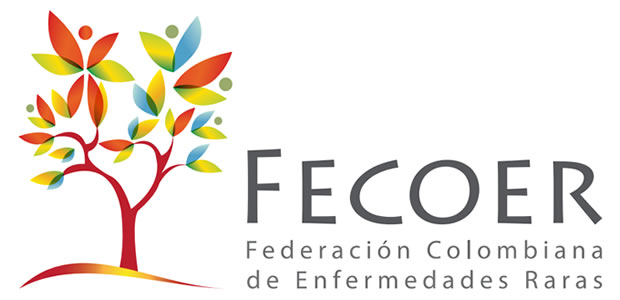 FECOER, logo. Federación Colombiana de Enfermedades Raras