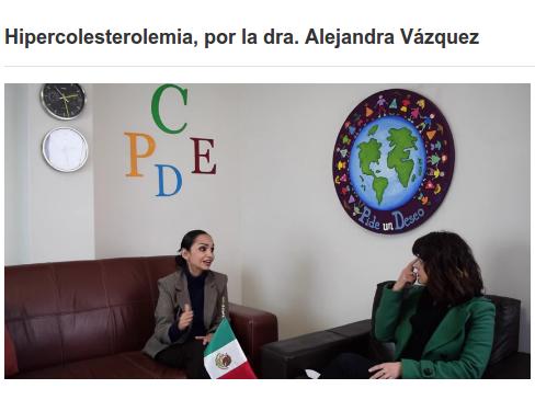 hipercolesterolemia familiar, FEMEXER, Psi Martha Lellenquien, Dra Alejandra Vázquez