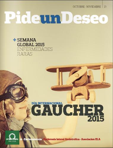 Portada de la revista Pide un Deseo, núm. 13, 'Día Internacional de Gaucher 2015'
