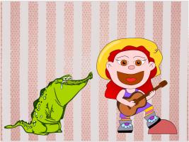 «Mi cocodrilo Meno» es otro relato de los Cuentos de la Abuela Güera