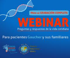 Mira la grabación del webinar para pacientes Gaucher y sus familiares, IGD 2019