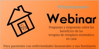 webinar PRÓXIMO sobre TRE terapias de remplazo enzimático en casa, benficios explicados a pacientes lisosomales