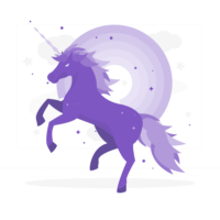 unicornio Rafiki, morado, color raro, enfermedades raras, animal raro, fuerza, solidez, impulso benéfico